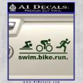 Swim Bike Run Triathlon Decal Sticker Dark Green Vinyl 120x120