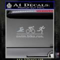 Swim Bike Run Triathlon Decal Sticker Grey Vinyl 120x120