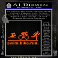 Swim Bike Run Triathlon Decal Sticker Orange Emblem 120x120
