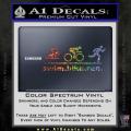 Swim Bike Run Triathlon Decal Sticker Spectrum Vinyl 120x120