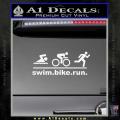 Swim Bike Run Triathlon Decal Sticker White Vinyl 120x120