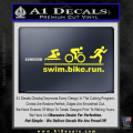 Swim Bike Run Triathlon Decal Sticker Yellow Vinyl 120x120