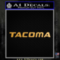 Tacoma Decal Sticker Toyota Gold Metallic Vinyl 120x120