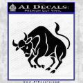 Taurus Decal Sticker Black Bull Vinyl 120x120