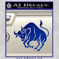 Taurus Decal Sticker Bull Blue Vinyl 120x120
