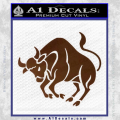 Taurus Decal Sticker Bull Brown Vinyl 120x120