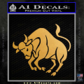 Taurus Decal Sticker Bull Gold Metallic Vinyl 120x120