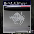 Taurus Decal Sticker Bull Grey Vinyl 120x120
