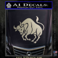 Taurus Decal Sticker Bull Metallic Silver Vinyl 120x120