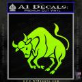 Taurus Decal Sticker Bull Neon Green Vinyl 120x120