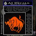Taurus Decal Sticker Bull Orange Emblem 120x120