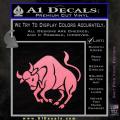 Taurus Decal Sticker Bull Soft Pink Emblem 120x120