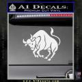 Taurus Decal Sticker Bull White Vinyl 120x120