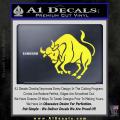 Taurus Decal Sticker Bull Yellow Vinyl 120x120
