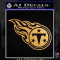 Tennessee Titans Decal Sticker Gold Metallic Vinyl 120x120