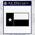 Texas State Flag Decal Sticker Black Vinyl 120x120
