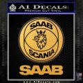 saab scania logo Decal Sticker Gold Vinyl 120x120
