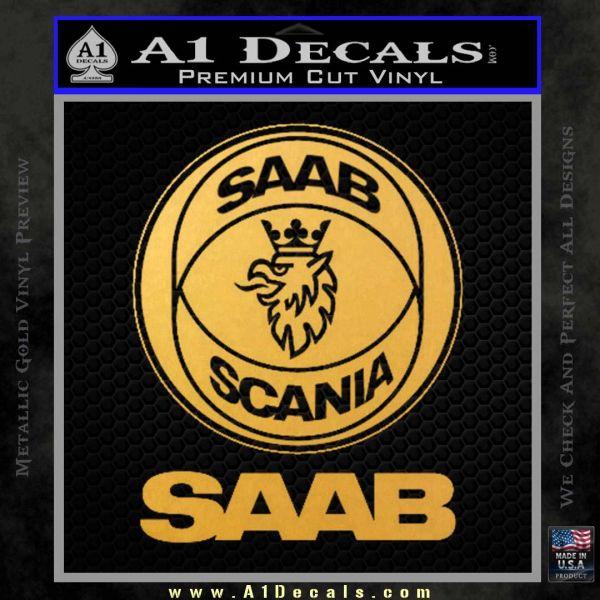 SAAB Scania Logo Decal Sticker » A1 Decals