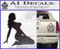 Trucker Girl 10 Decal Sticker Carbon FIber Black Vinyl 120x97