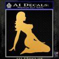 Trucker Girl 10 Decal Sticker Gold Vinyl 120x120