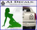 Trucker Girl 10 Decal Sticker Green Vinyl Logo 120x97