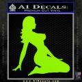 Trucker Girl 10 Decal Sticker Lime Green Vinyl 120x120