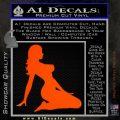 Trucker Girl 10 Decal Sticker Orange Emblem 120x120