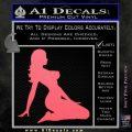 Trucker Girl 10 Decal Sticker Pink Emblem 120x120
