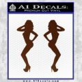 Two Ladies Nude B 1 Decal Sticker BROWN Vinyl 120x120