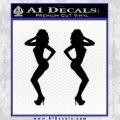 Two Ladies Nude B 1 Decal Sticker Black Vinyl 120x120