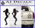 Two Ladies Nude B 1 Decal Sticker Carbon FIber Black Vinyl 120x97