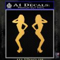 Two Ladies Nude B 1 Decal Sticker Gold Vinyl 120x120