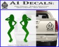 Two Ladies Nude B 1 Decal Sticker Green Vinyl Logo 120x97