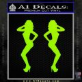Two Ladies Nude B 1 Decal Sticker Lime Green Vinyl 120x120
