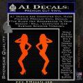 Two Ladies Nude B 1 Decal Sticker Orange Emblem 120x120