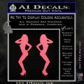 Two Ladies Nude B 1 Decal Sticker Pink Emblem 120x120