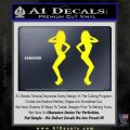 Two Ladies Nude B 1 Decal Sticker Yellow Laptop 120x120