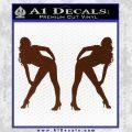 Two Ladies Nude Decal Sticker BROWN Vinyl 120x120
