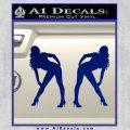 Two Ladies Nude Decal Sticker Blue Vinyl 120x120
