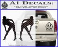Two Ladies Nude Decal Sticker Carbon FIber Black Vinyl 120x97