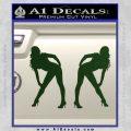Two Ladies Nude Decal Sticker Dark Green Vinyl 120x120