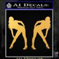Two Ladies Nude Decal Sticker Gold Vinyl 120x120