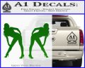 Two Ladies Nude Decal Sticker Green Vinyl Logo 120x97