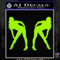 Two Ladies Nude Decal Sticker Lime Green Vinyl 120x120