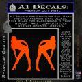 Two Ladies Nude Decal Sticker Orange Emblem 120x120