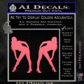 Two Ladies Nude Decal Sticker Pink Emblem 120x120