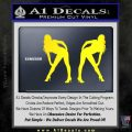 Two Ladies Nude Decal Sticker Yellow Laptop 120x120