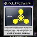 US Army Chemical Warfare Decal Sticker Yellow Laptop 120x120