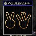 VW Hands Decal Sticker Gold Vinyl 120x120