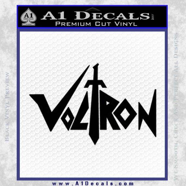 Voltron Decal Sticker Wide Black Vinyl
